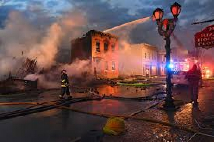 Assemblyman John McDonald talks about the fire in Cohoes
